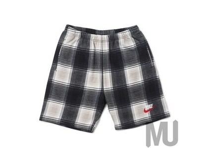 Supreme Nike Plaid Sweatshort Blackの写真