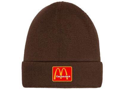 Travis Scott x McDonald's Cj Arches Beanie Brownの写真
