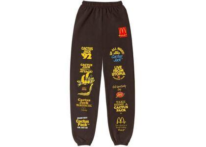 Travis Scott x McDonald's Sticker Bomb Sweatpants Brownの写真