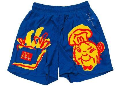 Travis Scott x McDonald's Illustration Shorts Blueの写真