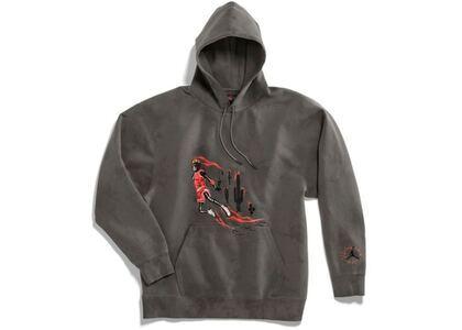 Travis Scott × Nike Jordan Washed Suede Hoodie Greyの写真