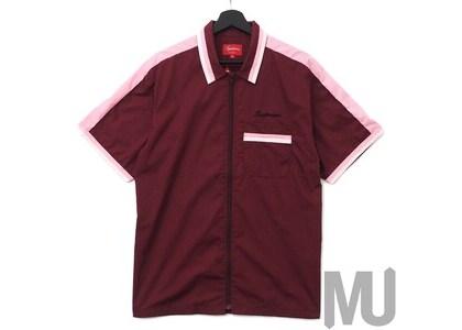 Supreme Zip Up Work Shirt Burgundyの写真