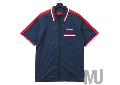 Supreme Zip Up Work Shirt Light Navyの写真