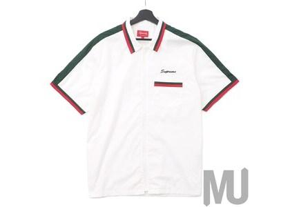 Supreme Zip Up Work Shirt Whiteの写真