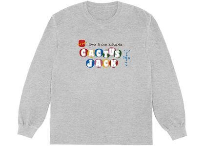 Travis Scott x McDonald's Cj Live From Utopia L/S T-Shirt Greyの写真