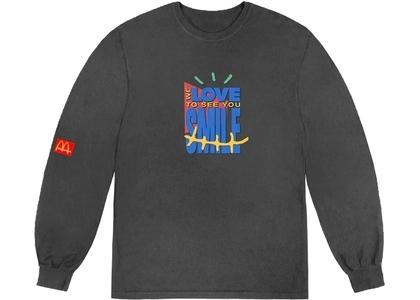 Travis Scott x McDonald's Smile L/S T-Shirt Washed Blackの写真