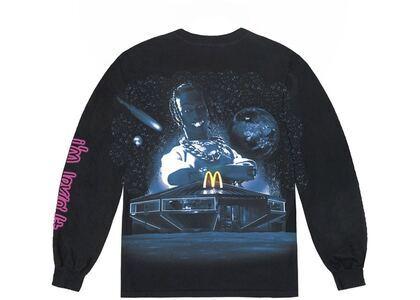 Travis Scott x McDonald's Action Figure Space L/S T-Shirt Blackの写真
