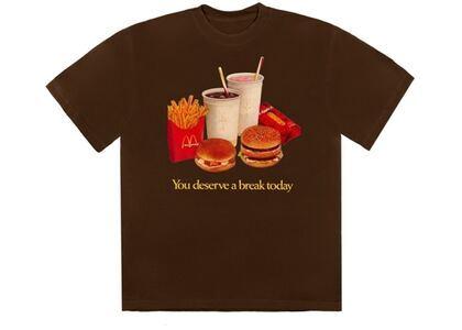 Travis Scott x McDonald's Deserve A Break T-Shirt Brownの写真