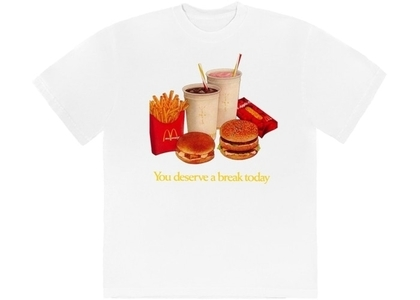 Travis Scott x McDonald's Deserve A Break II T-Shirt Whiteの写真