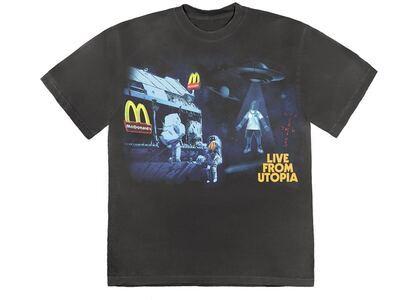 Travis Scott x McDonald's Live From Utopia T-Shirt Blackの写真
