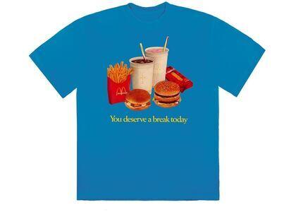 Travis Scott x McDonald's Deserve A Break III T-Shirt Blueの写真