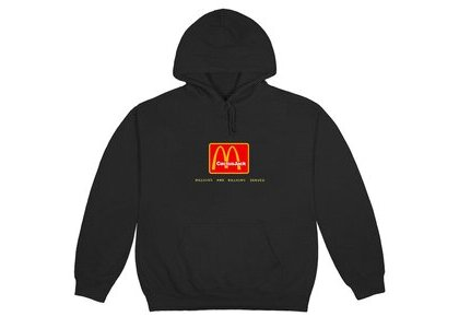 Travis Scott x McDonald's Billions Served Hoodie Washed Blackの写真