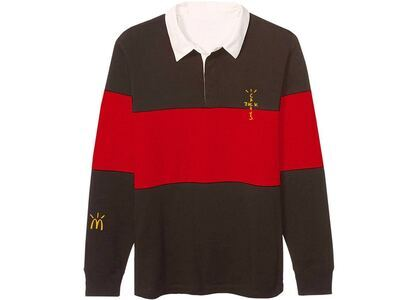 Travis Scott x McDonald's Cactus Jack Rugby Polo Brown/Redの写真