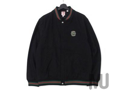 Supreme LACOSTE Wool Varsity Jacket Blackの写真