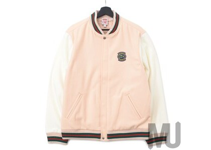 Supreme LACOSTE Wool Varsity Jacket Peachの写真