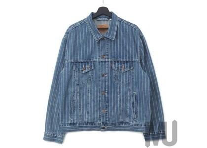 Supreme Levi's Pinstripe Trucker Jacket (With Pin) Blue Stripeの写真
