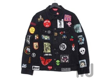 Supreme Patches Denim Trucker Jacket Blackの写真
