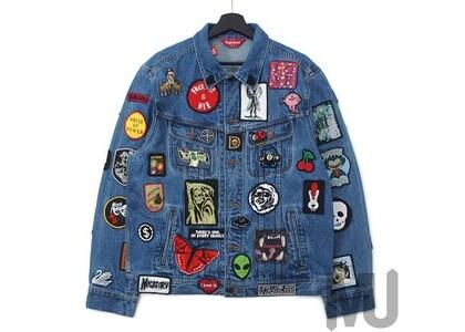 Supreme Patches Denim Trucker Jacket Blueの写真