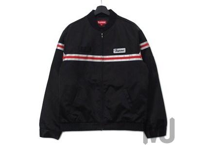 Supreme Reflective Stripe Work Jacket Blackの写真