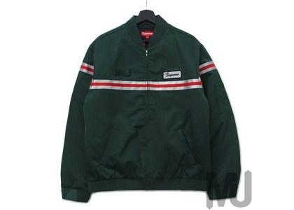 Supreme Reflective Stripe Work Jacket Dark Greenの写真