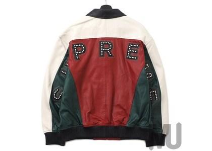 Supreme Studded Arc Logo Leather Jacket Redの写真