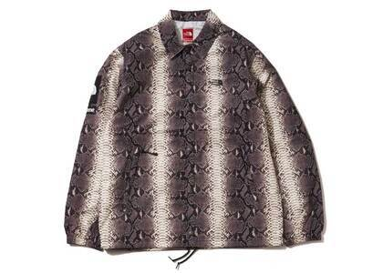 Supreme The North Face Snakeskin Taped Seam Coaches Jacket Blackの写真