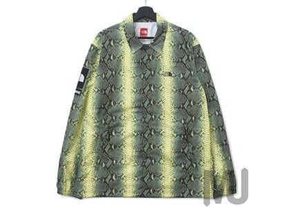 Supreme The North Face Snakeskin Taped Seam Coaches Jacket Greenの写真