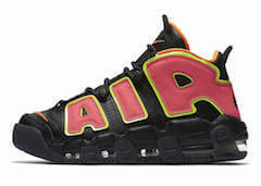 WMNS AIR MORE UPTEMPO BLACK/HOT PUNCH-VOLT