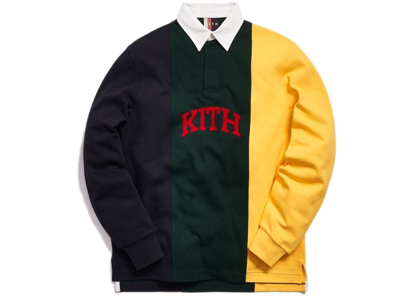 Kith Colorblock Rugby Jersey Forest Greenの写真
