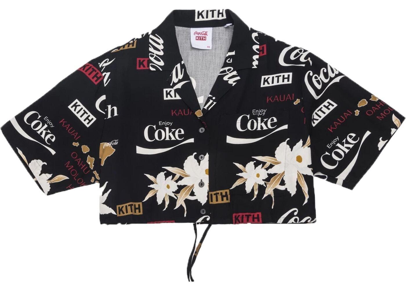 Kith Women x Coca-Cola Hawaiian Cropped Shirt Blackの写真