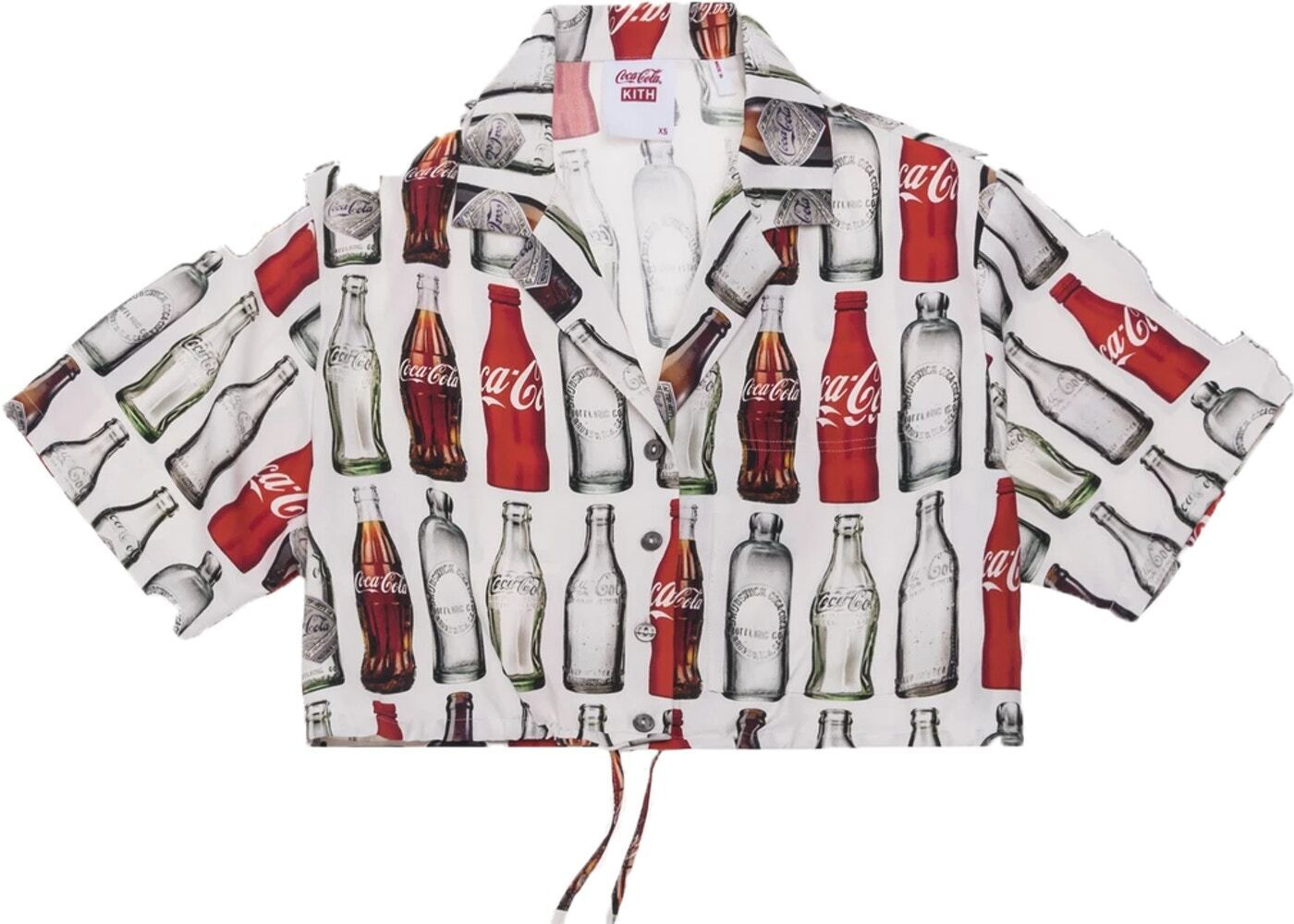 Kith Women x Coca-Cola Hawaiian Cropped Shirt Whiteの写真