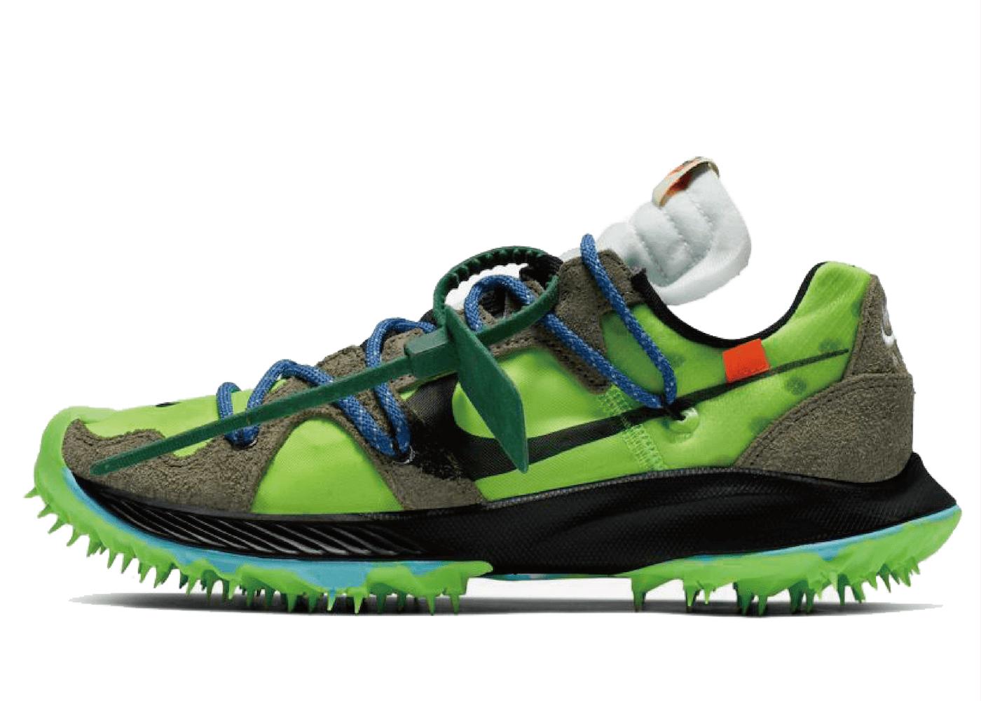 Off-White × Nike Air Zoom Terra Kiger 5 Womens Greenの写真