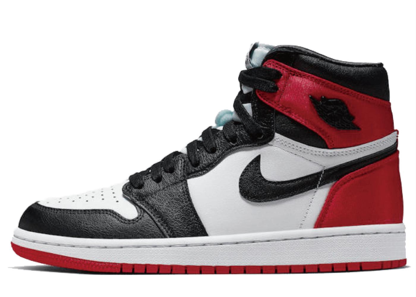 Nike Air Jordan 1 Retro High Satin Black Toe Womensの写真