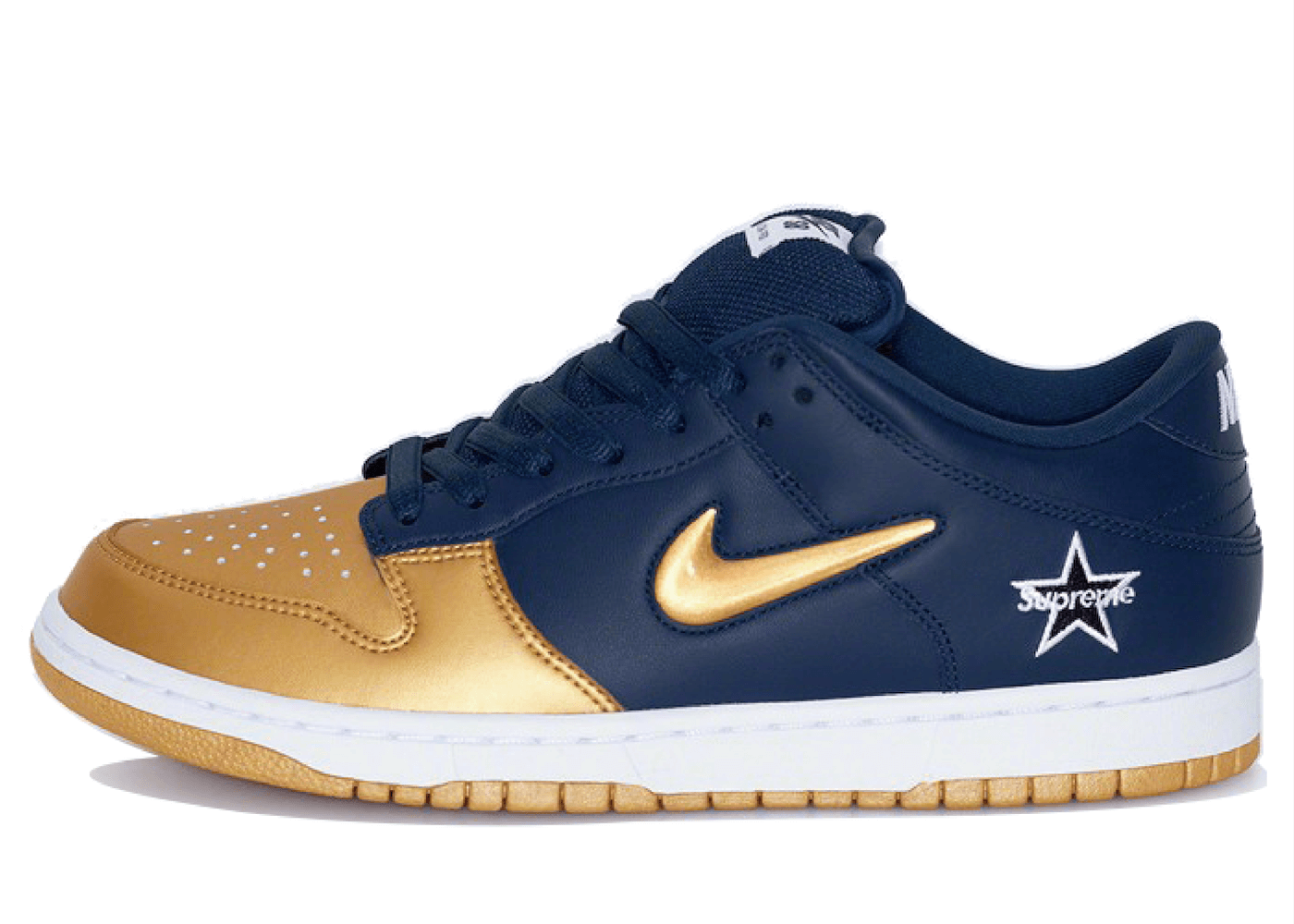 Supreme × Nike SB Dunk Low Jewel Gold