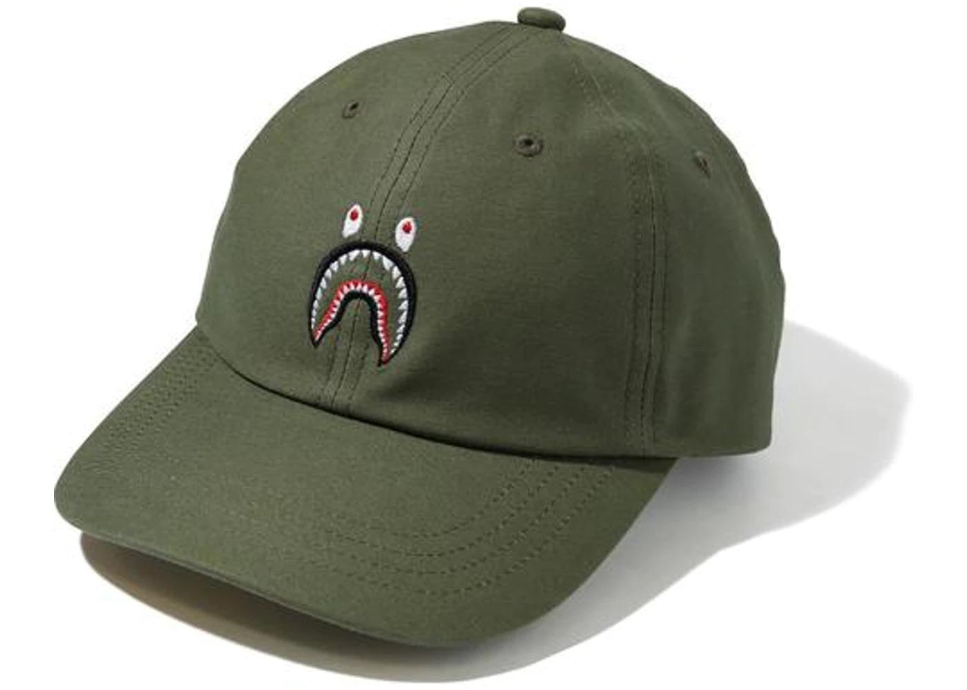 Bape Shark Panel Cap Olivedrab/Yellow (SS21)の写真