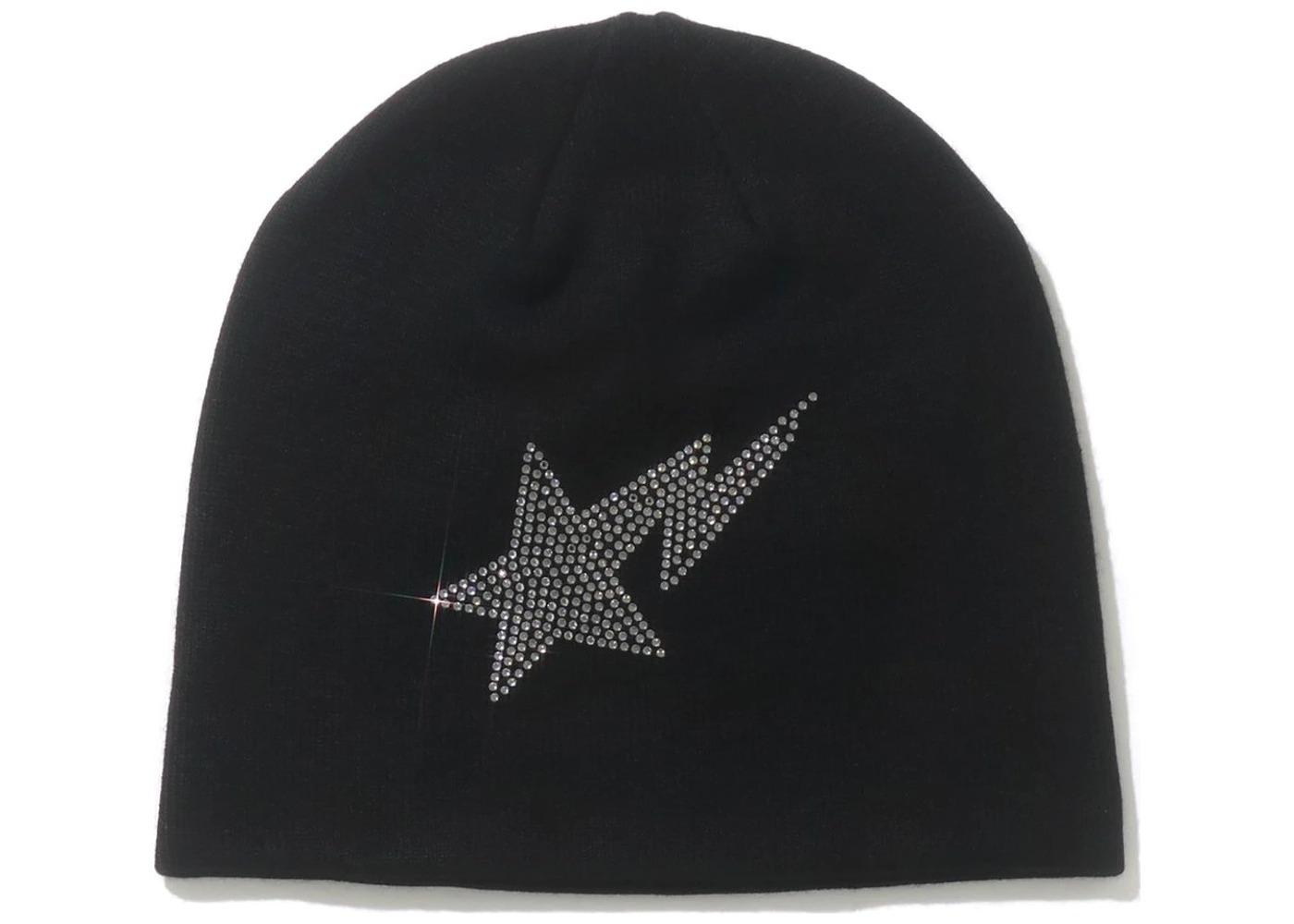 Bape STA Crystal Stone Knit Cap Black (SS21)の写真