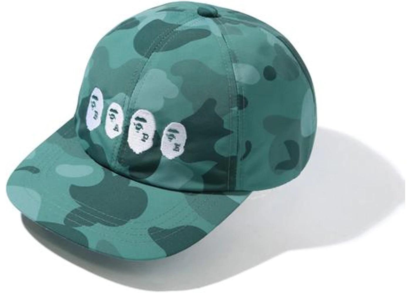 Bape Color Camo Ape Head Panel Cap Green (SS21)の写真