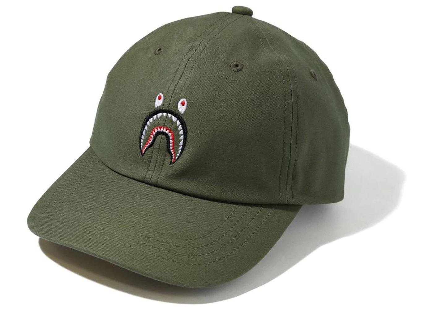 Bape Shark Panel Cap Olivedrab/Green (SS21)の写真
