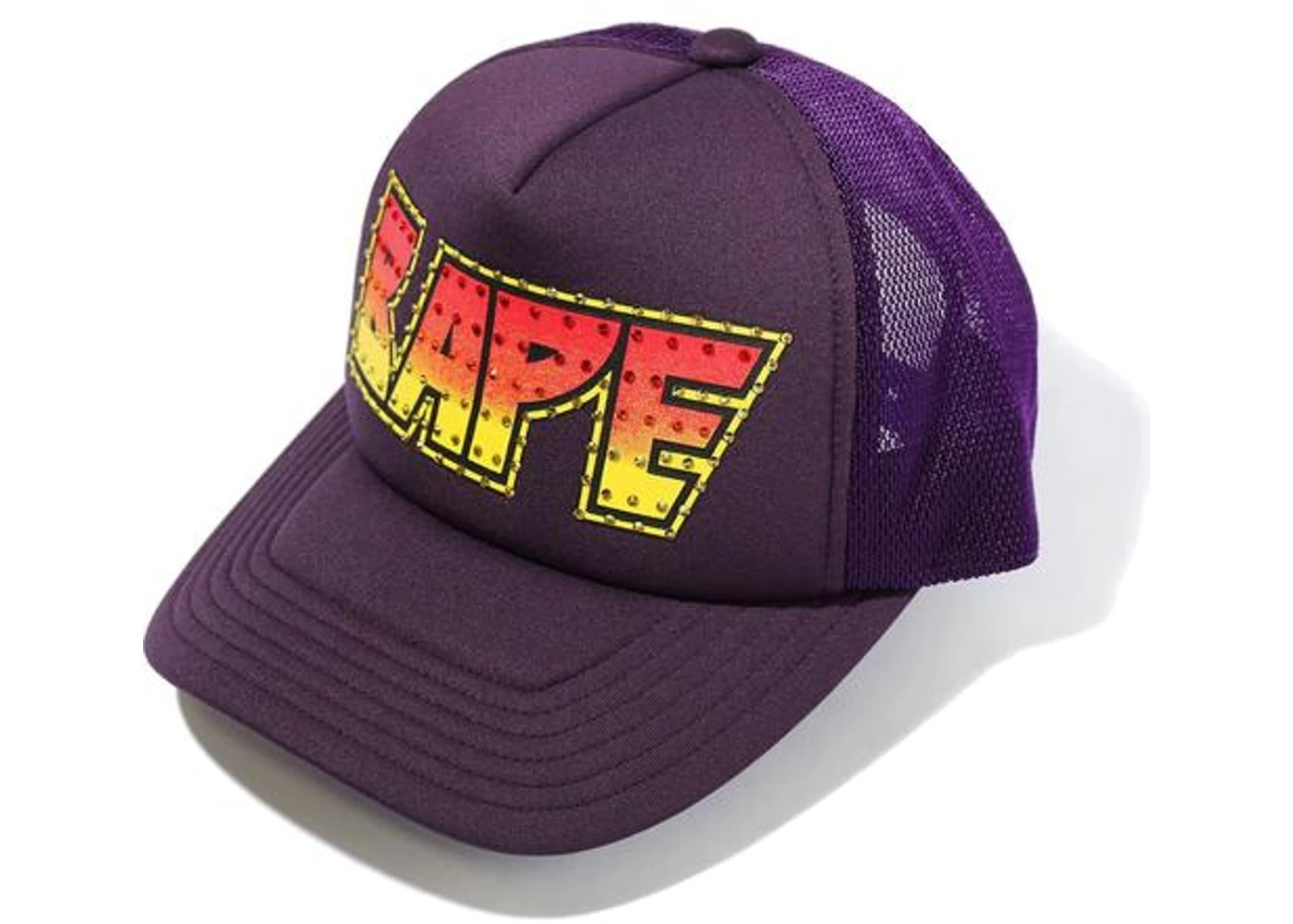 Bape Crystal Stone Mesh Cap Purple (SS21)の写真
