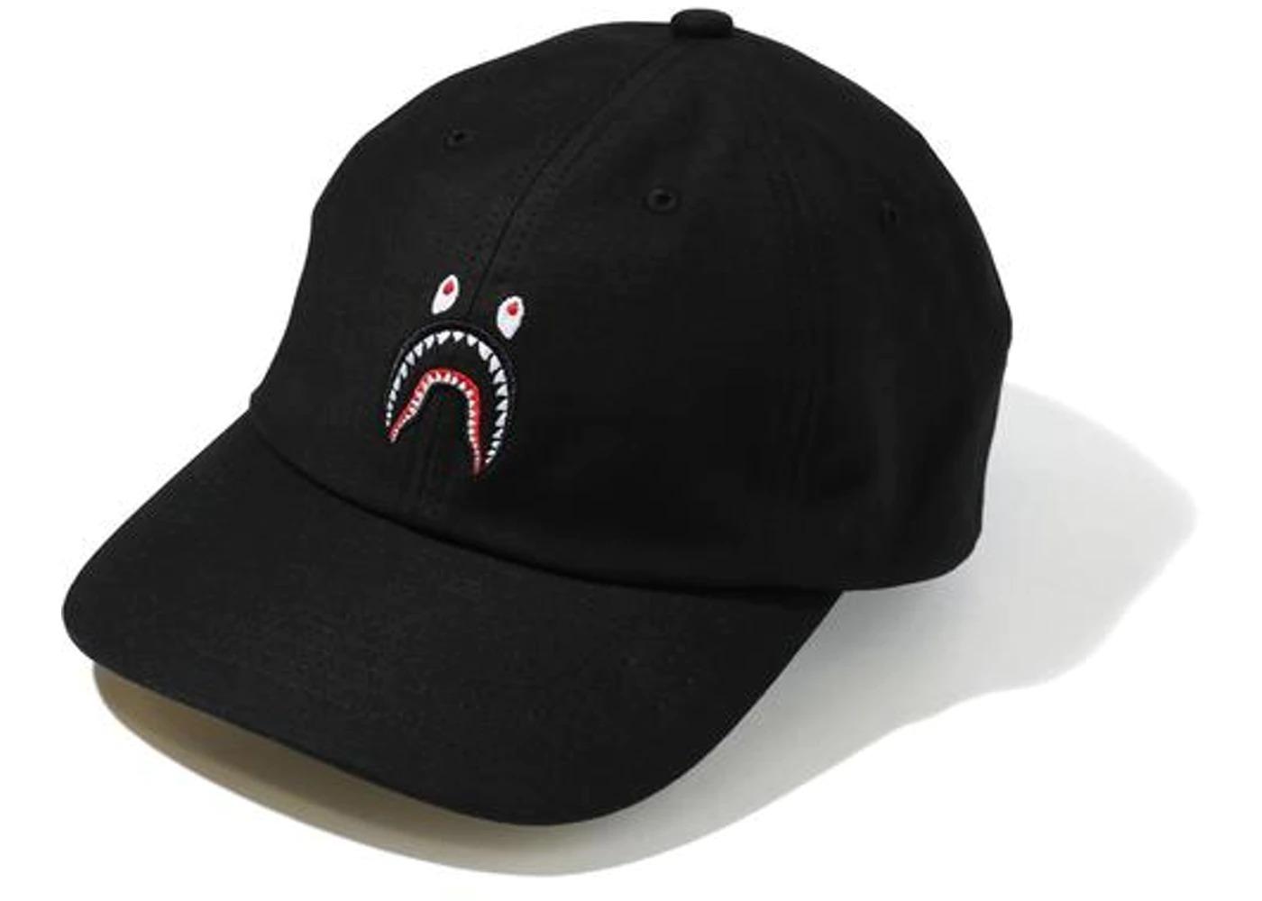Bape Shark Panel Cap Black/Yellow (SS21)の写真