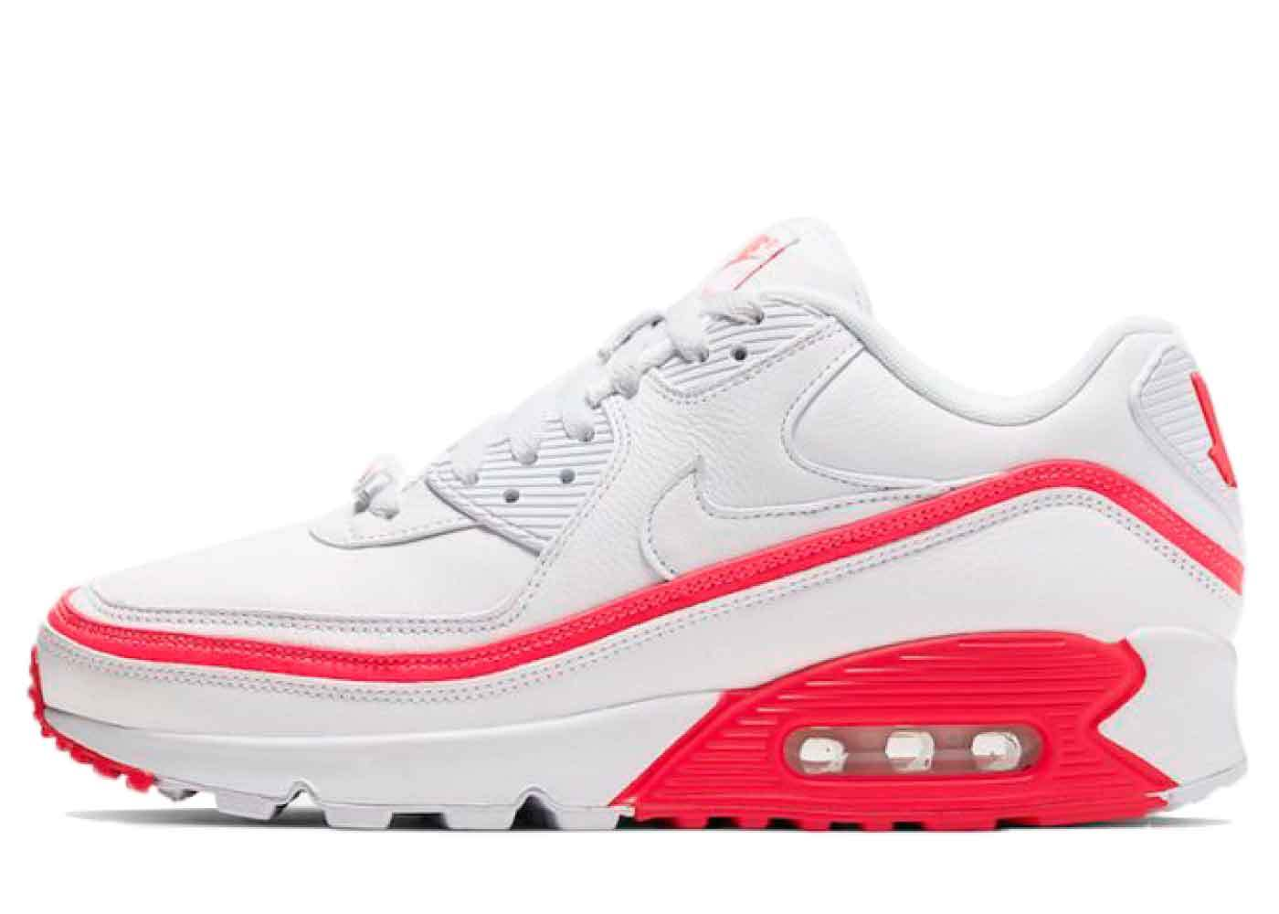 Nike Air Max 90 Undefeated White Solar Redの写真