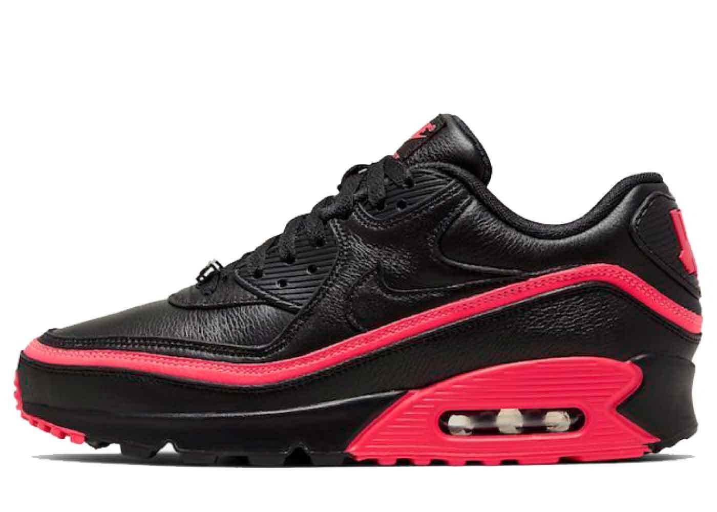 Nike Air Max 90 Undefeated Black Solar Redの写真