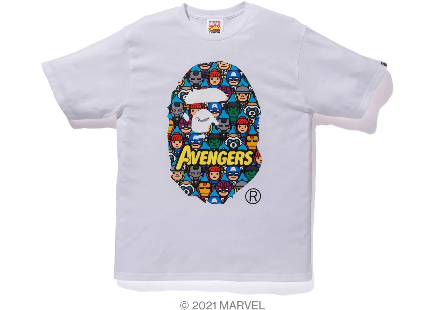 Bape x Marvel Comics Avengers Ape Head Tee White (SS21)の写真