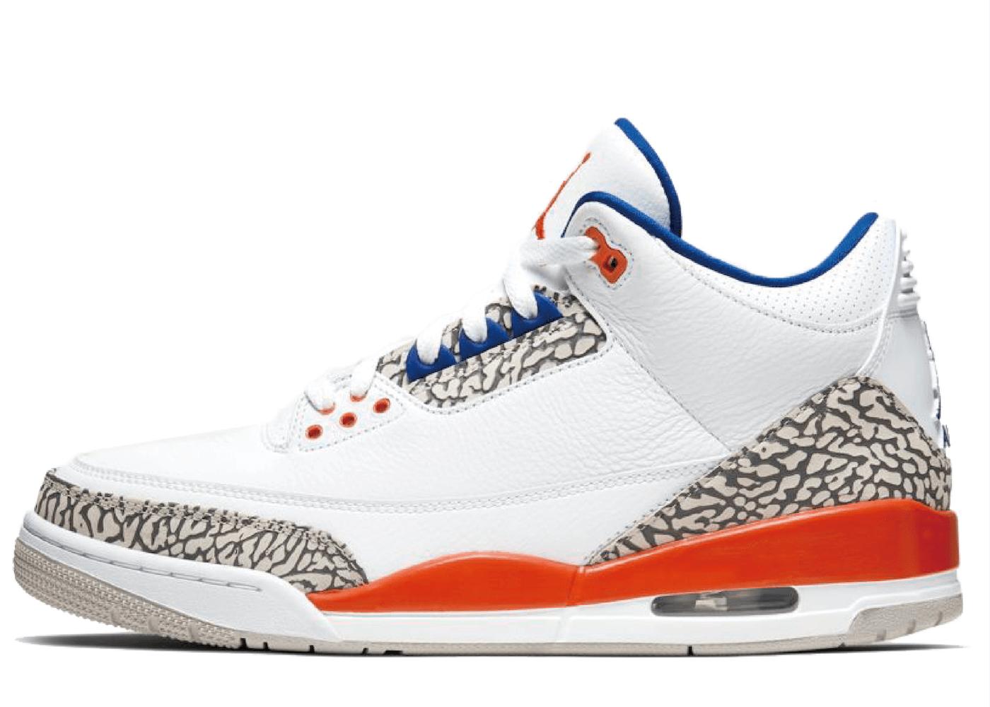 Nike Air Jordan 3 Retro Knicks (White/Orange)の写真