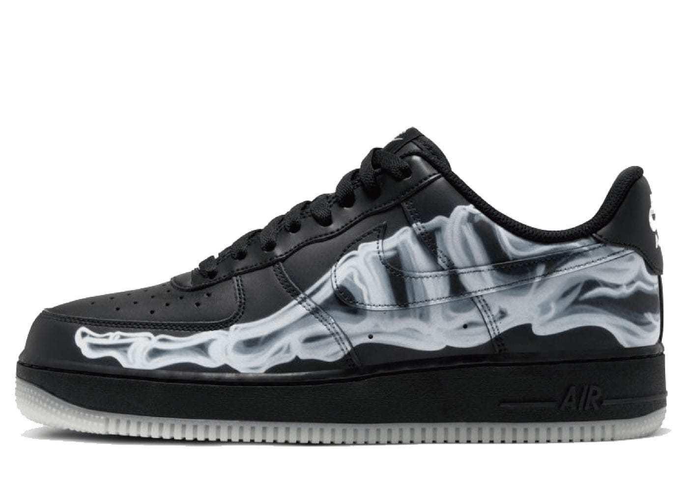 Nike Air Force 1 Skeleton Black On Blackの写真