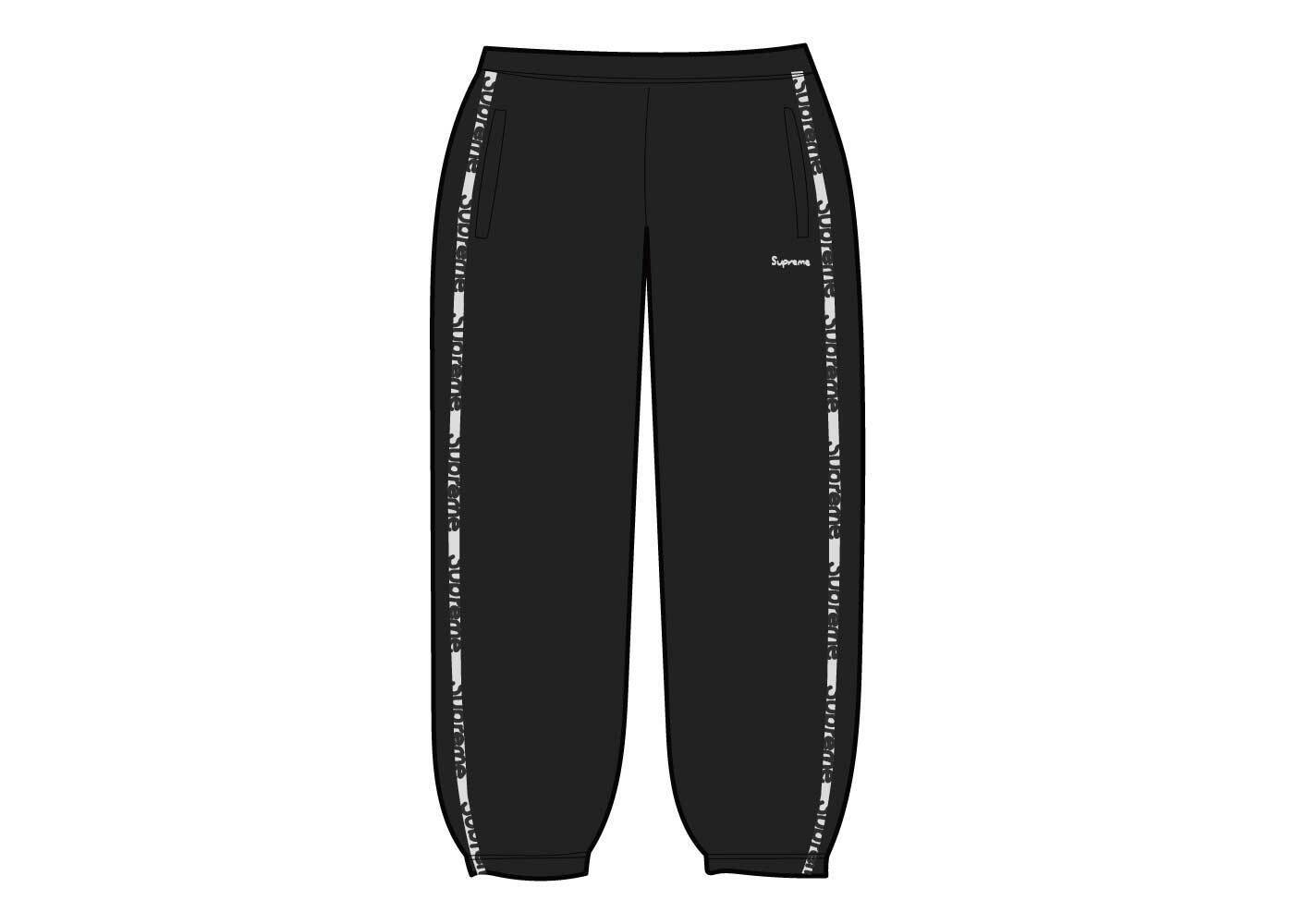 Supreme Reflective Zip Track Pant Black  (SS21)の写真