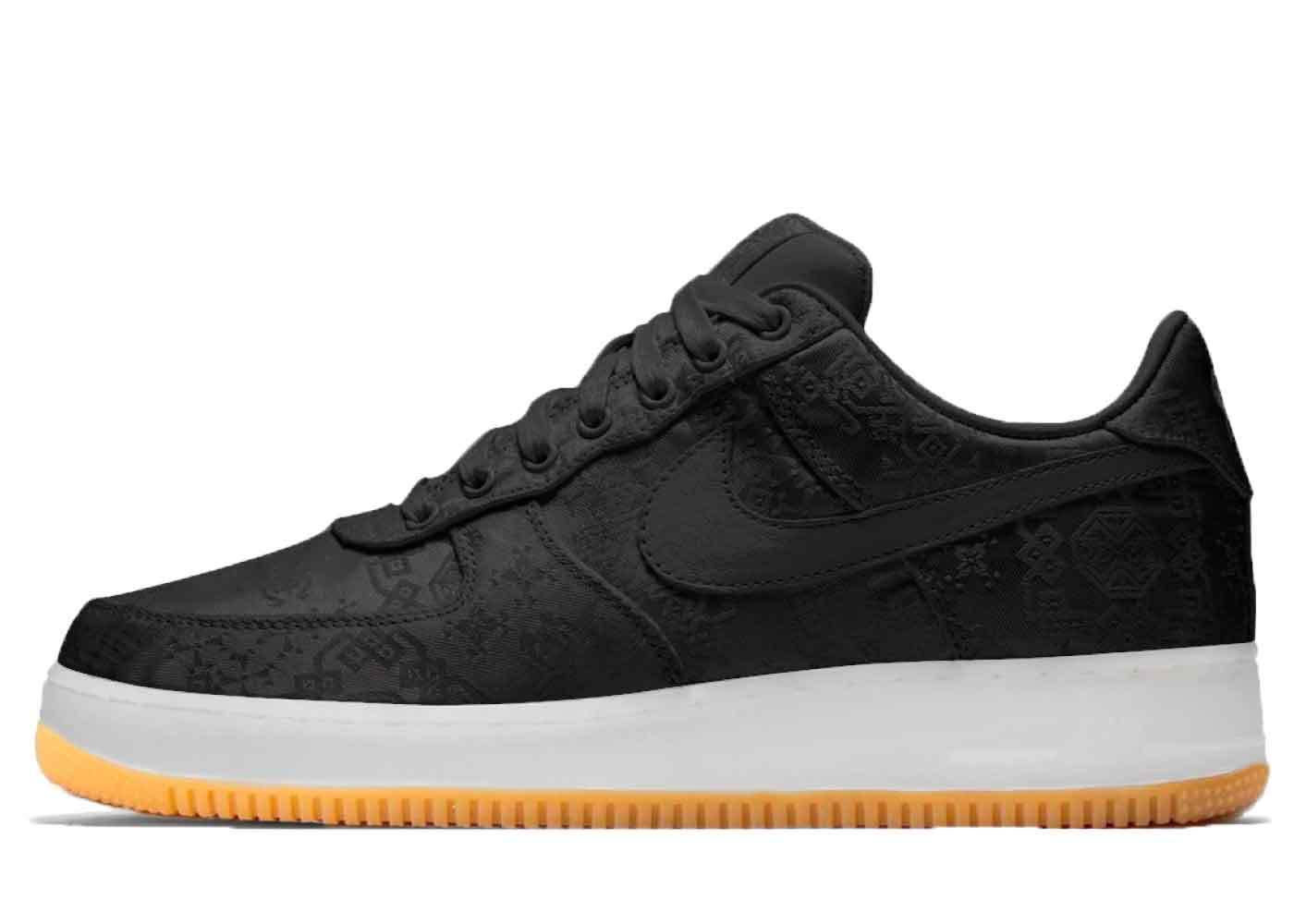 Clot × Fragment Design × Nike Air Force 1 Low Blackの写真