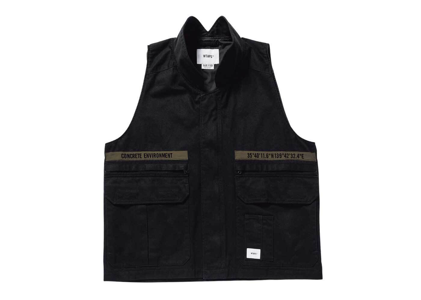 Wtaps Rep Vest Cotton Twill Blackの写真