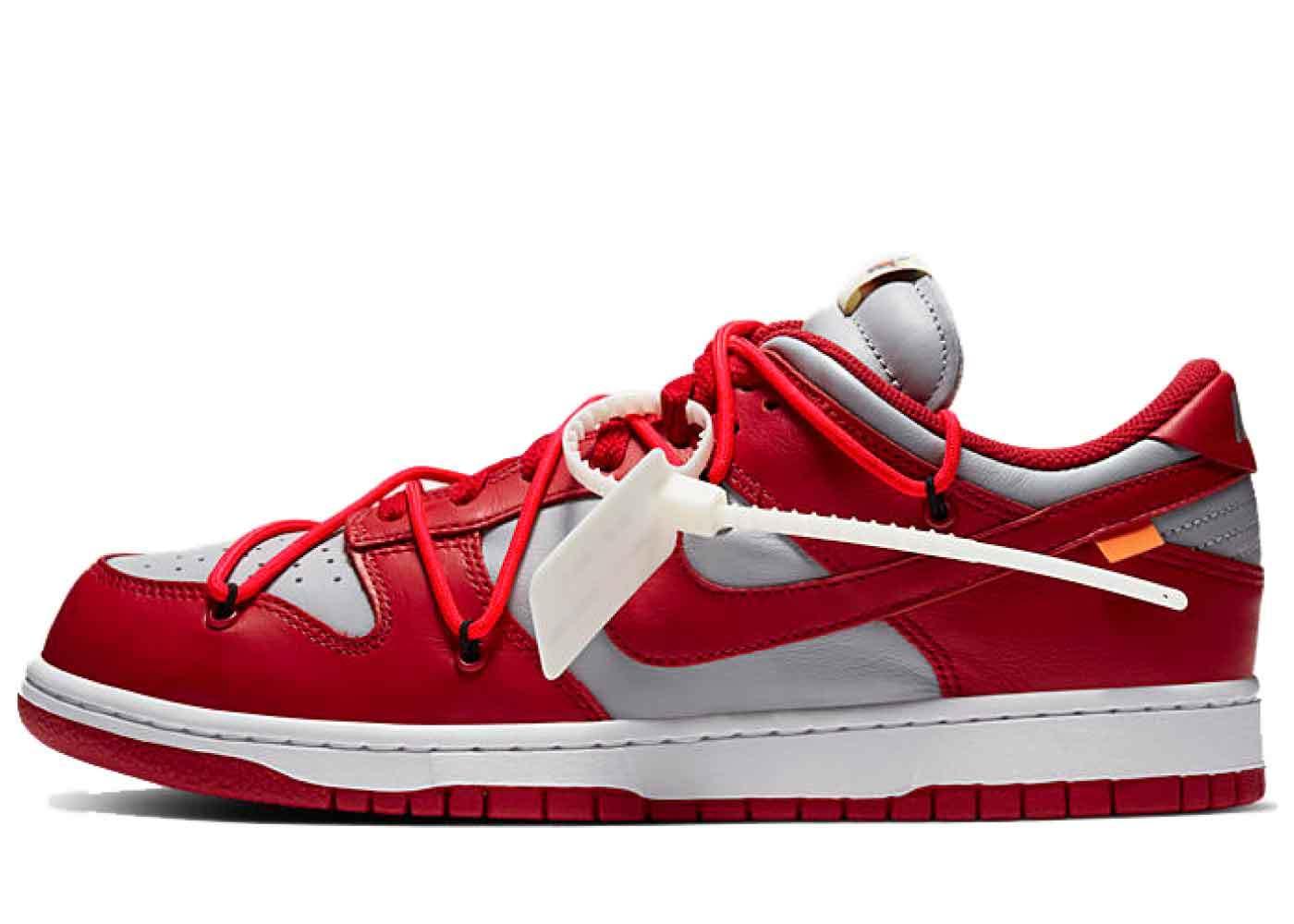 Off-White × Nike Dunk Low University Redの写真