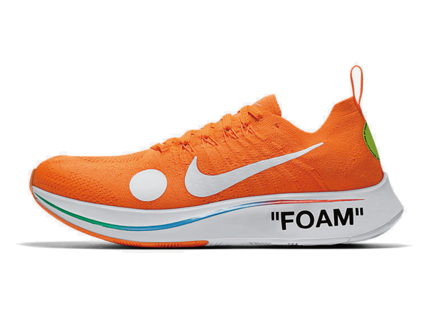 Off-White × Nike Zoom Fly Mercurial Flyknit Orangeの写真